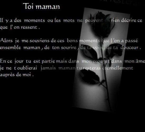 poeme maman annick